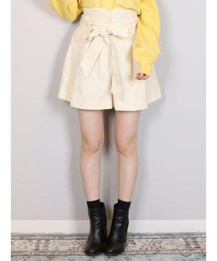 【Ray3月号掲載】【sw】リボン付コーデュロイショートパンツ