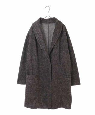 【大きいサイズ】チェック柄起毛コート