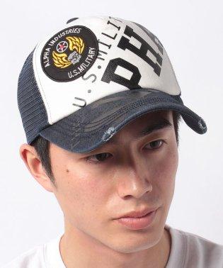 【ALPHA】ビッグロゴプリントメッシュキャップ