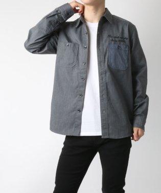 【SMITH'S】 スミス ツイル刺繍ワークシャツ