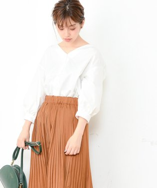 【natural couture】バックフリルシャツブラウス