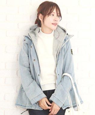 2Wayデニムジャケット 韓国 ファッション レディース あったか ライナーベスト カワイイ シンプル【A/W】【vl-5311】