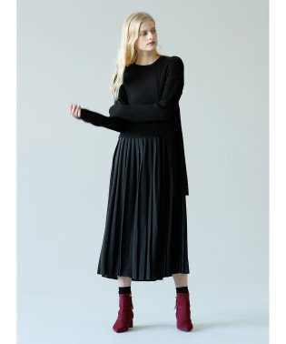 Vertical Line Pleat Dress
