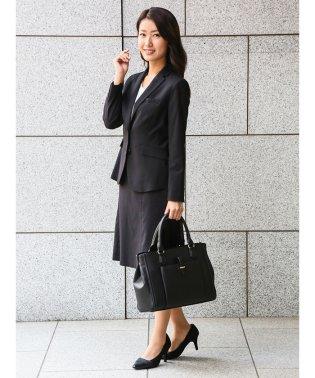 ストレッチウォッシャブル セットアップフレアースカート 黒