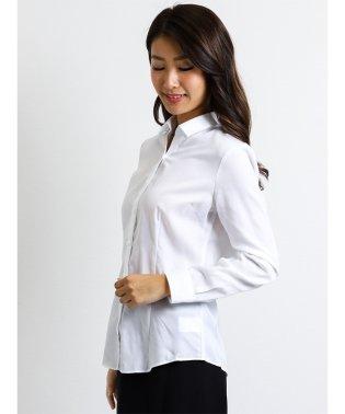 形態安定レギュラーカラースキッパー切替長袖シャツ