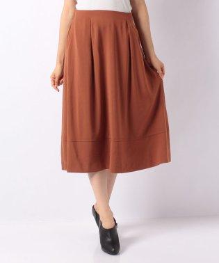 ツイルジョーゼット裾切替えタックフレアスカート