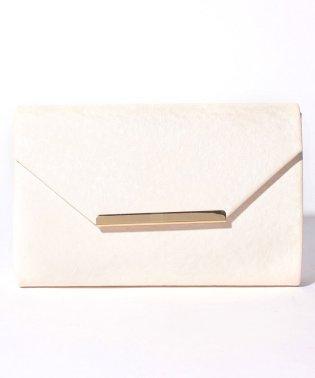 斑染め×フラット金具デザインパーティークラッチバッグ