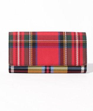 【BURBERRY】2つ折り財布/【RED/MULTI】