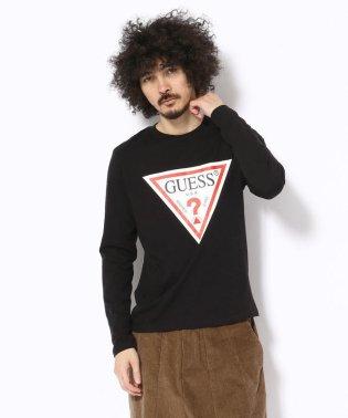 GUESS/ゲス/トライアングルロゴ ロングスリーブTシャツ