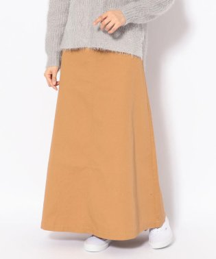 MINELAL(ミネラル)ツイル無地フレアSKT/スカート