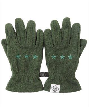 スター刺繍フリース手袋