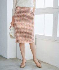 【ドラマ着用】【セットアップ対応】チェックツイードフリンジスカート