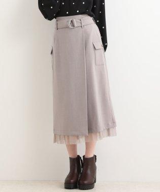 ○ベルト付ヘムチュールスカート