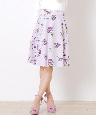 《プチサイズあり》パネル花柄フレアースカート