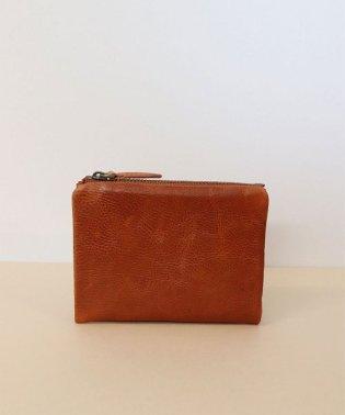 【本革】 スナップ 二つ折り財布 / レザーミニウォレット