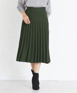 圧縮ニットプリーツスカート