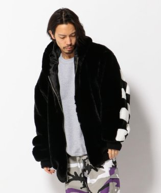 DankeSchon/ダンケシェーン/Checker Fur Blouson