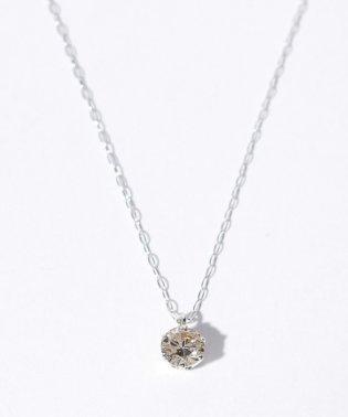 K10WG 天然ダイヤモンド 0.3ct VLB/SI2/GDアップ 6本爪ネックレス GGS鑑定書付