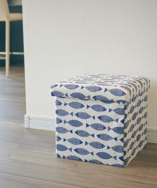 座ってしまえて畳める便利ボックス フィッシュ
