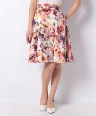 グログランフラワー スカート