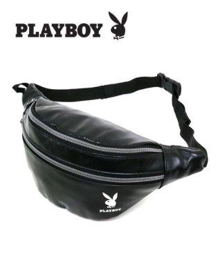 【PLAYBOY】合皮ウエストバッグ