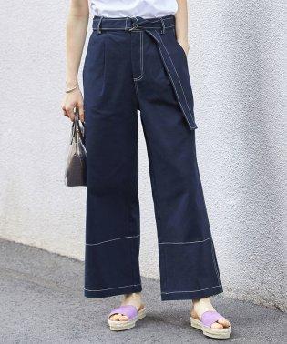 【WEB限定】配色ステッチストレートパンツ