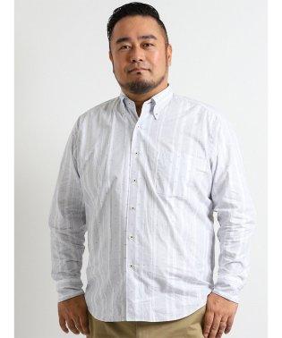 【大きいサイズ】ALEXANDER JULIAN 新彊綿カットドビー長袖シャツ