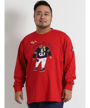 【大きいサイズ】SINA COVA (シナコバ) キャラクタープリント長袖Tシャツ