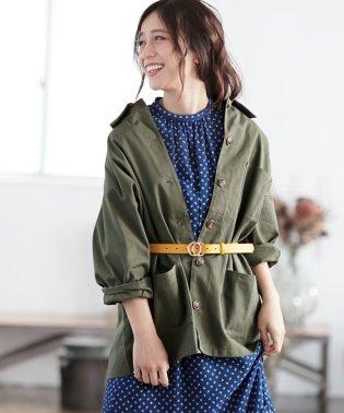 【WEB限定】ミリタリーロングジャケット