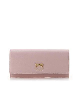 フラワーリボンプレート(かぶせ長財布)