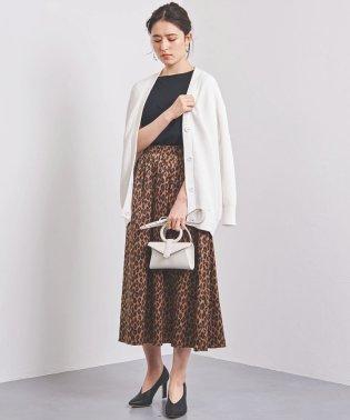 UWSC レオパードプリント ギャザースカート