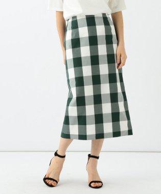 【滝沢眞規子 着用】Demi-Luxe BEAMS / ビッグギンガムチェック タイトスカート
