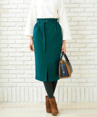 ウールライクベルテッドイージータイトスカート