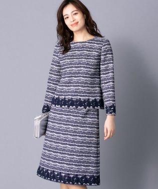 【特別提供品】ツイードブラウス&スカートセット