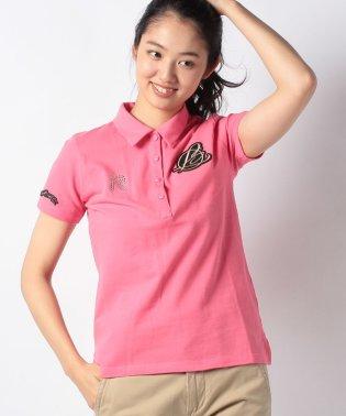 ワッペン付き半袖ポロシャツ