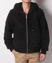 Hooded Suede Work Jacket