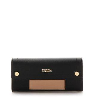 パスケース付きフラップ財布