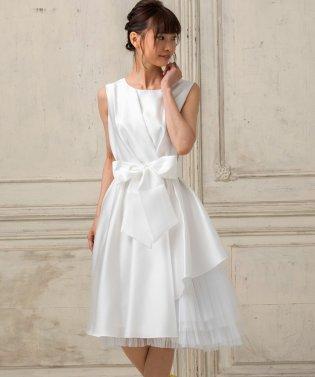 【結婚式・ウェディングドレス】ショートフレアウェディングドレス