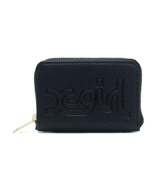 エックスガール コインケース X-girl コイン&カードケース 小銭入れ LOGO EMBOSSED COIN & CARD CASE 05184008