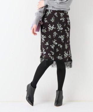 マイクロサテンフラワースカート