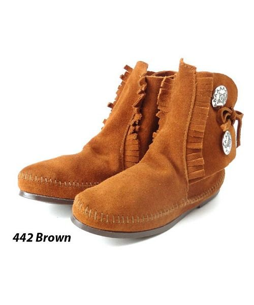 (BACKYARD/バックヤード)ミネトンカ MINNETONKA Women's Two Button Boot/レディース ブラウン