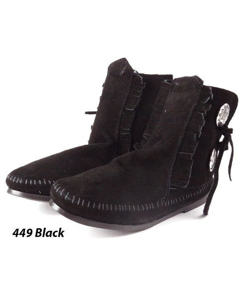 (BACKYARD/バックヤード)ミネトンカ MINNETONKA Women's Two Button Boot/レディース ブラック
