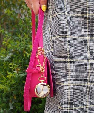 〈nattito/ナティート〉 Heart transparent key chain watch/ハート型スケルトン懐中時計 キーチェーンタイプ