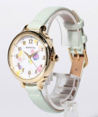 〈nattito/ナティート〉Motif print watch/モチーフプリントウォッチ ロウファ