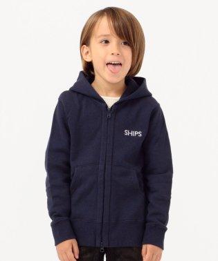 SHIPS KIDS:ロゴ フード ジップ パーカー(100~130cm)