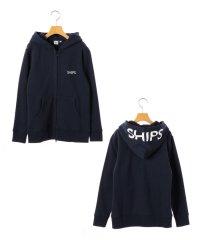 SHIPS KIDS:ロゴ フード ジップ パーカー(145~160cm)