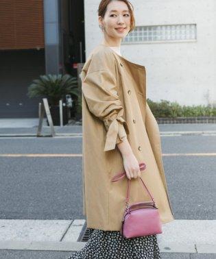 【予約】リボンスリーブノーカラーコート
