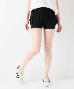 【ABOUT】 WOMAN DOUBLE LAYER SHORTS