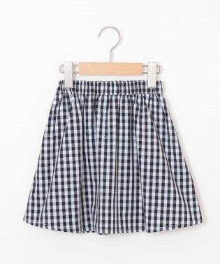 [140-150]ギンガムチェックギャザースカート