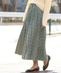 【WEB限定】チェックジャガードプリーツスカート